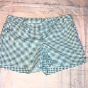 Michael Kors White and Blue Plaid Shorts